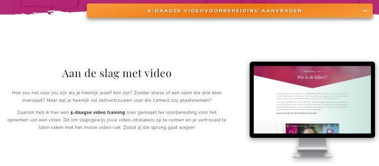 Leadgeneratie gratis videocursus voorbeeld