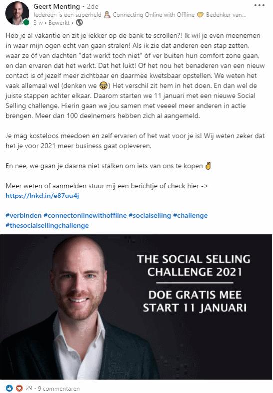 LinkedIn Challenge Geert Menting