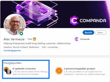 LinkedIn profielpagina Alex Vermeule